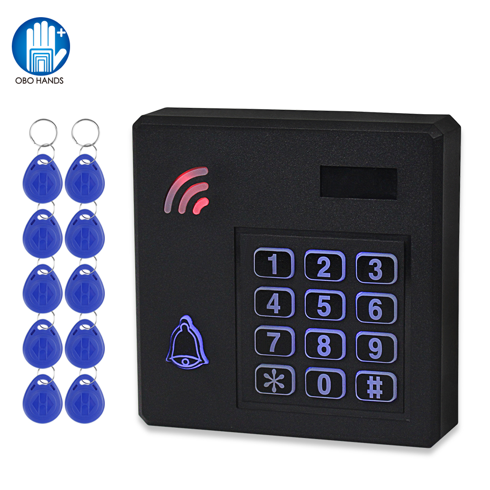 IP68 Waterproof Access Control System Outdoor RFID Keypad WG26 Access Controller Keyboard Rainproof 10 EM4100 Keyfobs For Home