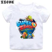 2020 novo verão bebê meninos t camisa los super zings série 4 imprimir piano crianças camisetas engraçado crianças meninas topos roupas
