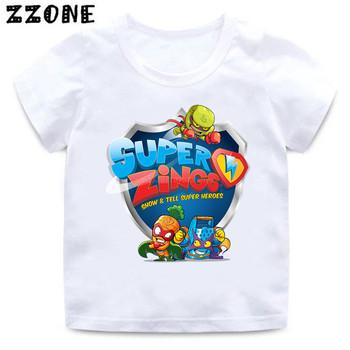 2020 nowe letnie dziecko chłopcy T shirt Los Super Zings serii 4 drukuj fortepian koszulki dla dzieci śmieszne dzieci dziewczyny topy ubrania tanie i dobre opinie Poliester Moda REGULAR O-neck Krótki Pasuje mniejszy niż zwykle proszę sprawdzić ten sklep jest dobór informacji Unisex