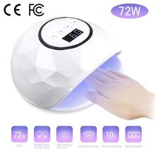 UV LED Nail Lamp 72W Dryer Curing 4 Timer Setting Automatic Sensor Quick Drying Pro Lights Cure Gel Polish