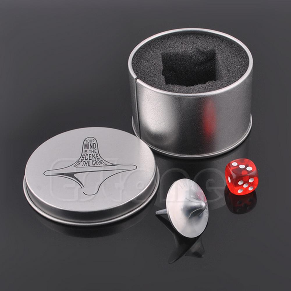 Inception Totem Zinc Alloy Silver Spinning Top Accurate Replica Dice& Gift Box