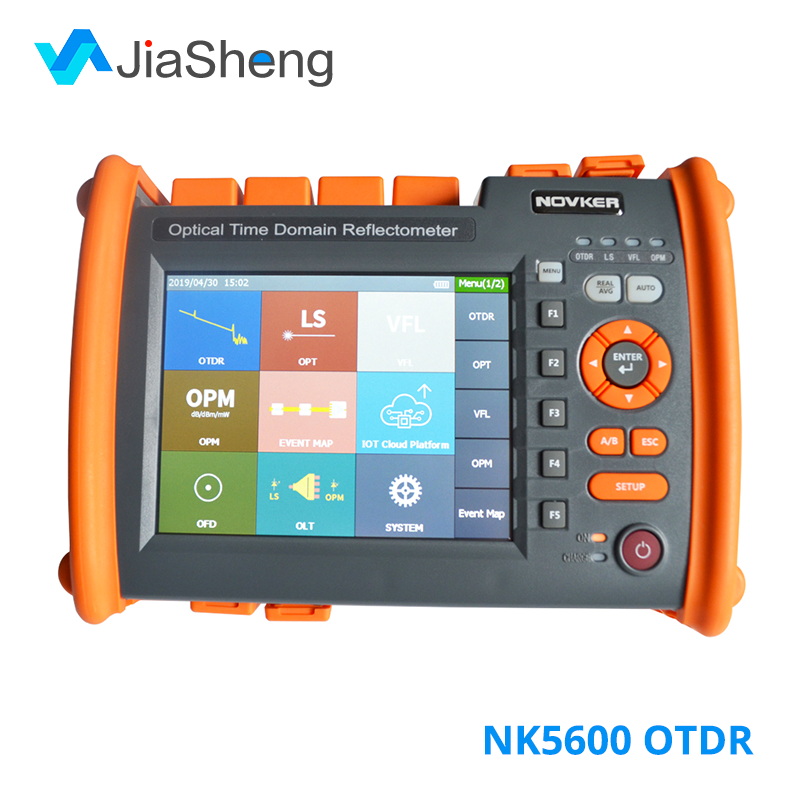 NOVKER NK5600 1310/1550nm 32/30dB SM Optic Fiber OTDR Tester With VFL OPM Light Source Function