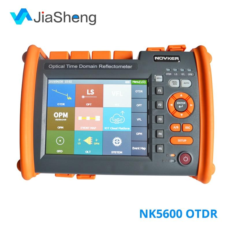 NOVKER NK5600 1310/1550nm 32/30dB SM Optic Fiber OTDR Tester With VFL OPM Light Source Function