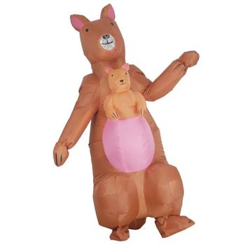 Kangaroo Inflatable Mascot Costume Fancy Dress Cosplay Halloween Theme Party Toy Adults Holiday Performance Costumes