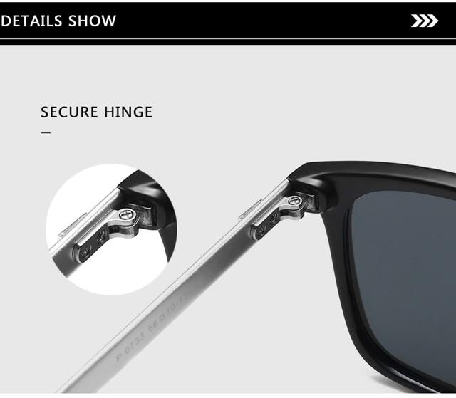 Unisex Retro Aluminum+TR90 Polarized Lens Sunglasses 4