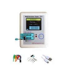 Wielofunkcyjny tester próbnik elektroniczny LCR-TC1 kolorowy wyświetlacz graficzny z baterią trioda dioda TFT miernik pojemności tanie tanio ANENG CN (pochodzenie) Elektryczne NONE Tylko cyfrowy