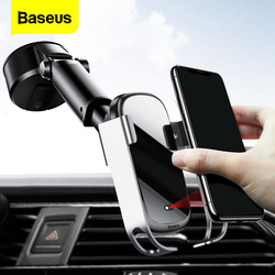 Baseus Car Wireless Charger For iPhone 11 Pro Max Samsung S20 Xiaomi 10W Induction Fast Wireless Charging Car Phone Mount Holder