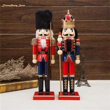 Деревянные поделки 38 см Прекрасный Щелкунчик солдат форма кукла рождественский подарок украшение