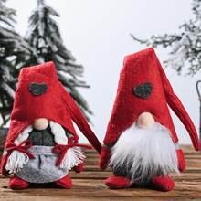 Noel kap yüzü olmayan Gnome Santa bebek kolye Nordic Gnome Land tanrı bebek yılbaşı ağacı askı süsleri bebek dekor İsveç