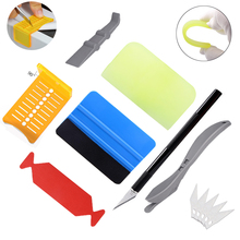 FOSHIO Car Tint Vinyl Squeegee Kit Window Wrapping Graphic Decal Cutter Knife Auto Carbon Foil Film Install Marking Aid Tool