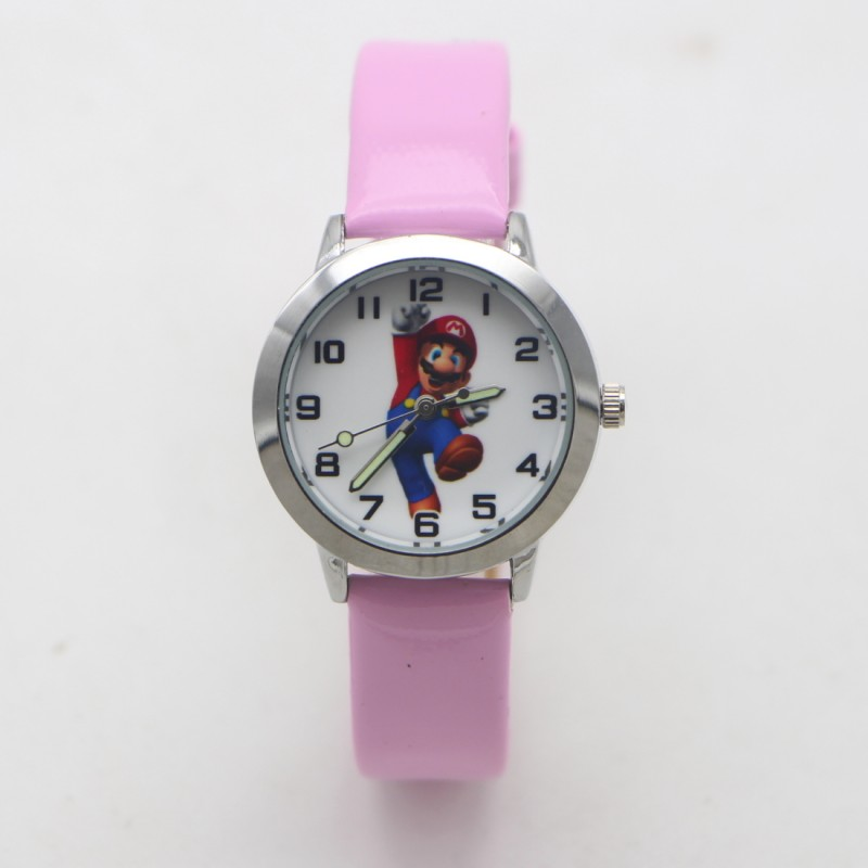 New Arrival Fashion Kids Cartoon Super Mario Lovely Watch Children Student Girls Boys Gift Candy Watches Reloj Mujer Kol Saati