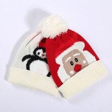 Baby Christmas wool warm Santa Claus hats children toddler hat baby girl boy earmuffs winter autumn stuff  newborn hat