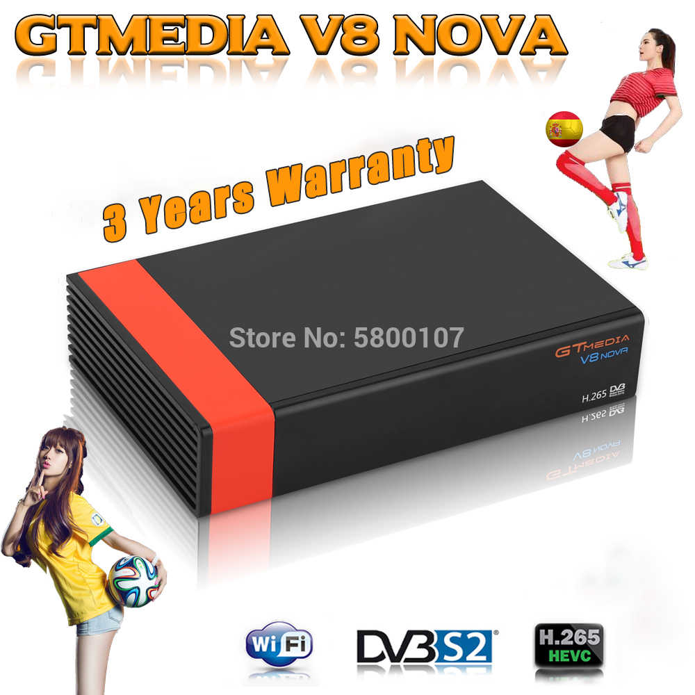 DVB-S2 Gtmedia V8 Nova Satellietontvanger Full Hd 1080P H.265 Gt Media V8X Ingebouwde Wifi Gtmedia V8 Honor v9 Super