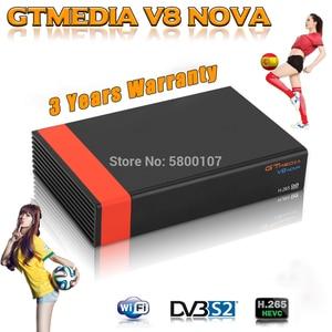 DVB-S2 Gtmedia V8 NOVA satellite receiver Full HD 1080P h.265 GT Media V8X Built in wifi GTmedia V8 honor v9 super