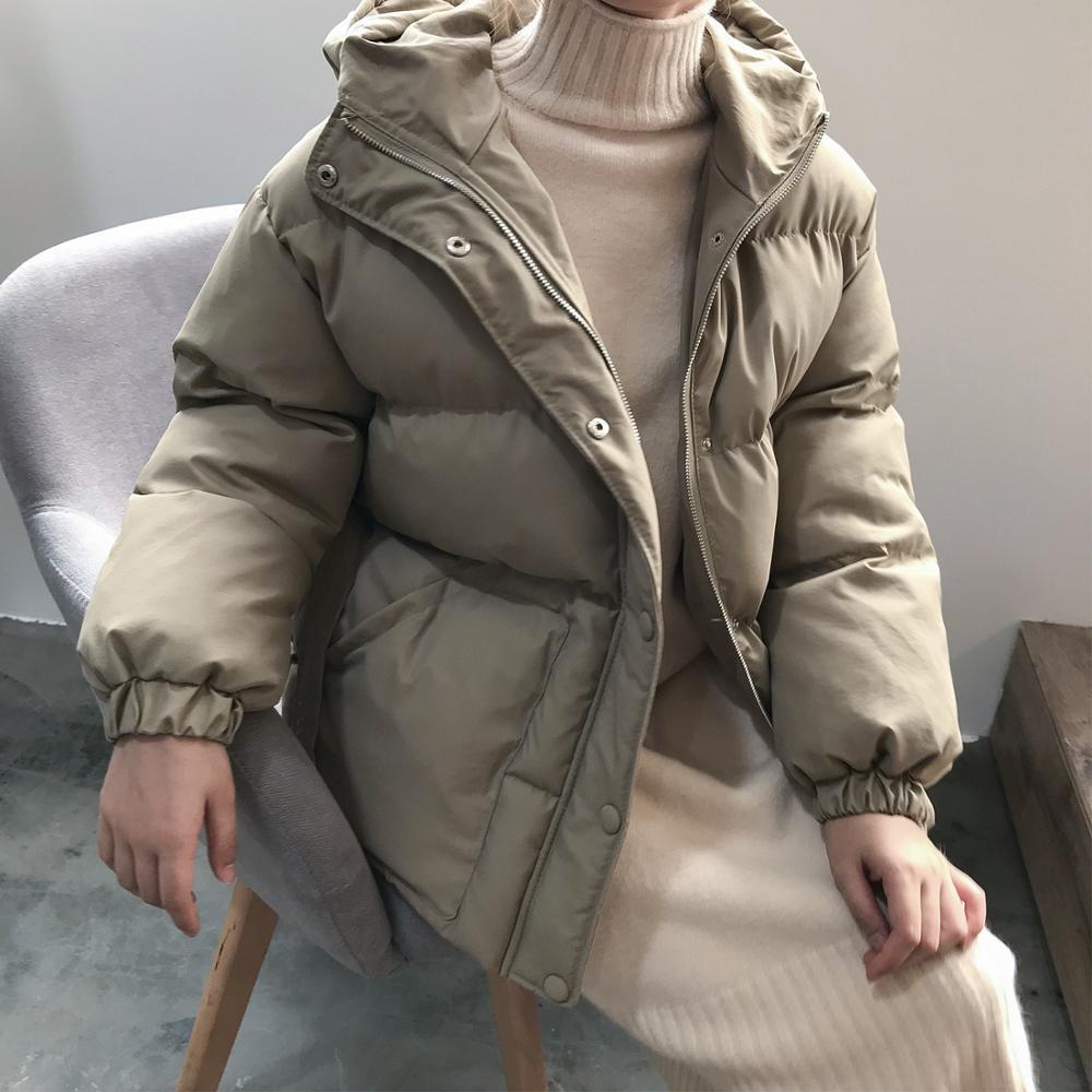 2019 Jacket Women Streetwear Cotton Padded Winter Warm Coat Female Black Parkas With Sashes Korean Style Womens Clothing