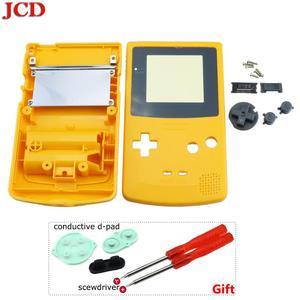Image 5 - GBC 한정판 용 JCD 8 세트 Gameboy 컬러 게임 콘솔 용 쉘 교체 전체 하우징 + 전도성 d 패드 + 스크루 드라이버