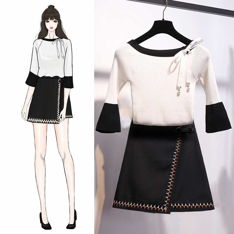 2019 Spring And Summer New Style Korean-style Fashion Very Fairy Of Royal Sister Knitting Suit Western Style Goddess Playful Two