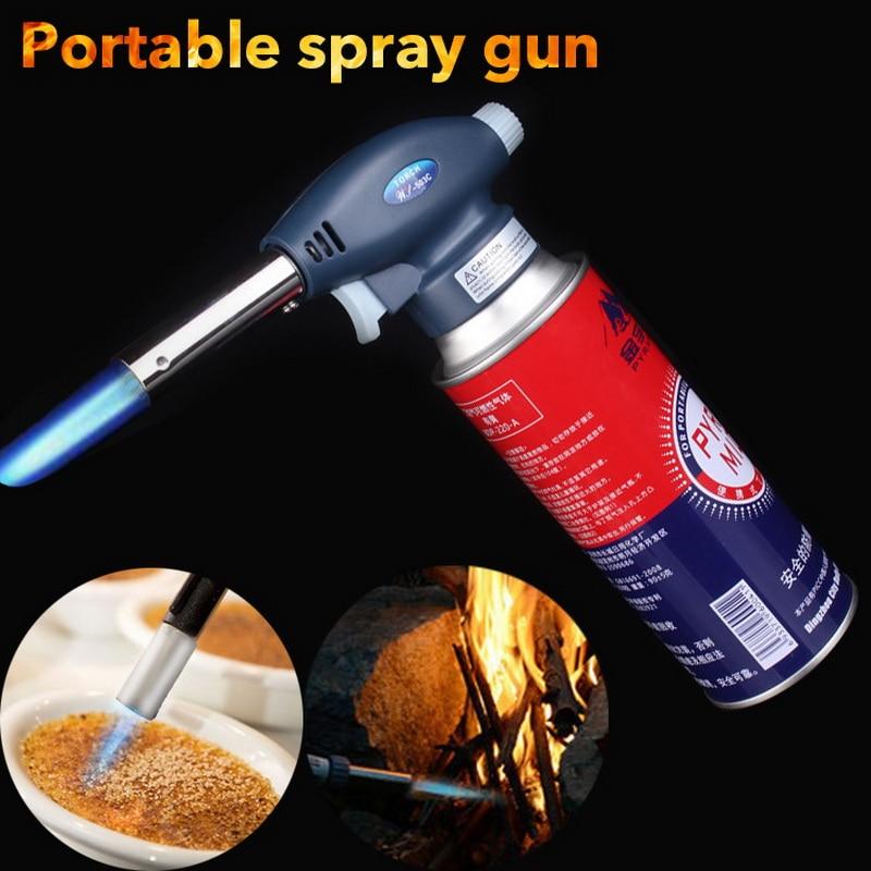 1300 C Outdoor BBQ Lighter Cigar Torch  Lighter Jet Butane Gas Cigarette Spray Gun Windproof Metal Pipe Lighter For Kitchen