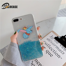 Halocase 3D Bling Glitter Phone Case For iPhone XS MAX XR 10X 7 8 6 Plus Cute Cartoon Dumbo Fly Elephant Soft Cover Cases