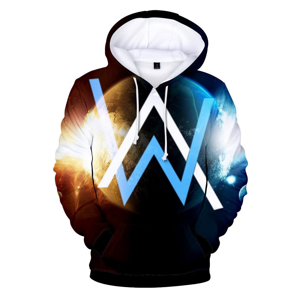 2018 New Style Alan Walker Electronic Music Genius Allen Walker Related Autumn 3D Color Print Hooded Hoodie