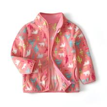 Winter Jackets Toddler Coats Girls Outerwear Baby Clothes Cartoon Cotton Pink for 2-10