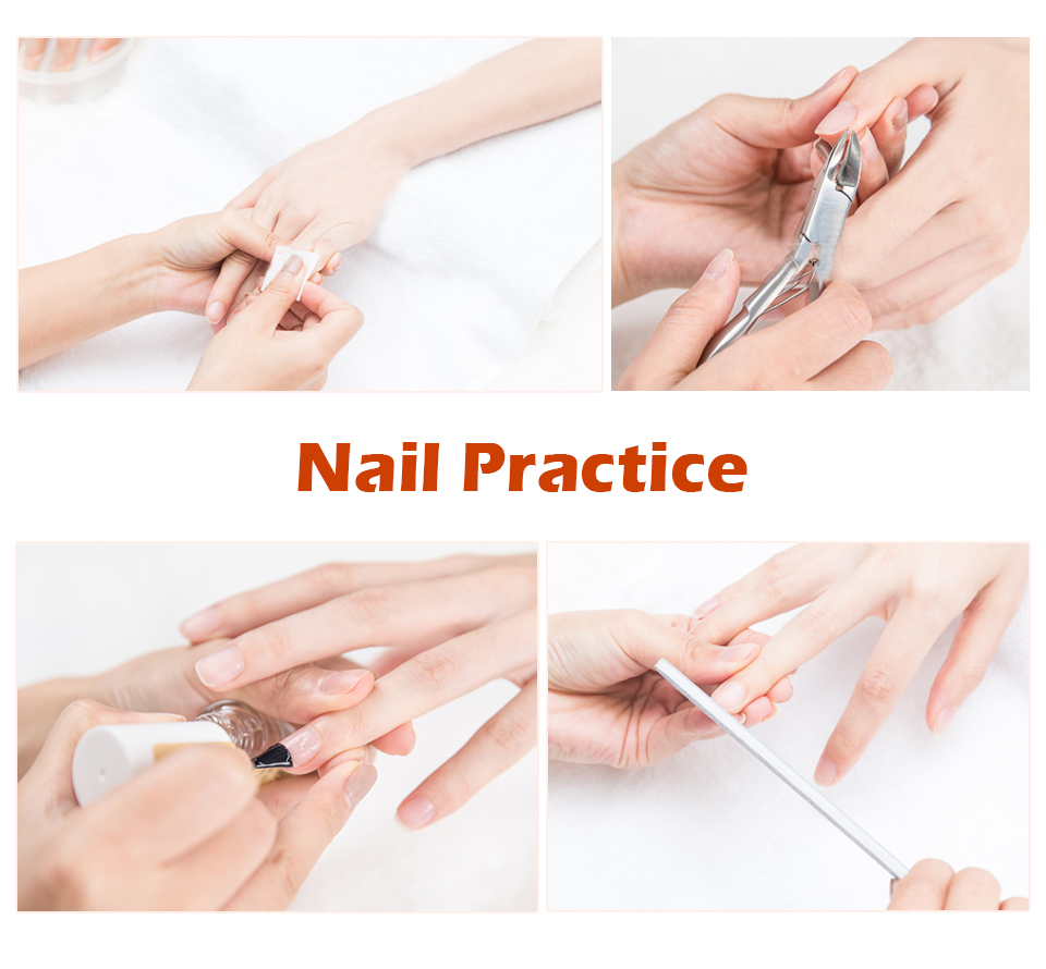 Practice Hand For Acrylic Nails With Tips Adult Mannequin With Flexible Finger Adjustment Display Model Moveable Nails Super Sale Aec13 Cicig