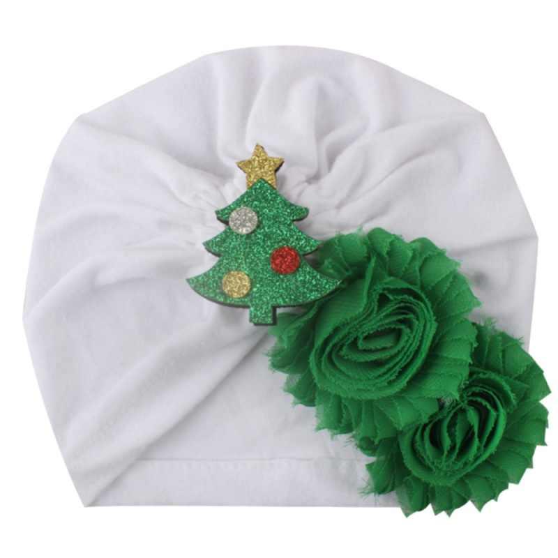 Gorro infantil gorra elástica otoño suave bebé recién nacido Navidad dibujos animados flores niñas gorras