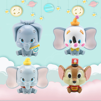 Dumbo 4pcs/set action collection Disney toys model Capsule Collectible Cute DIY anime figure for children birthday gifts 8CM