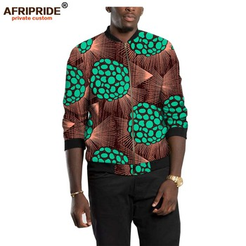 2020 Mens Jacket African Dashiki Printed Open Front Long Sleeve Coats with Ribbed Cuffs Full Zipper Outwear AFRIPEIDE A1914004 zipper front backpack with tassels