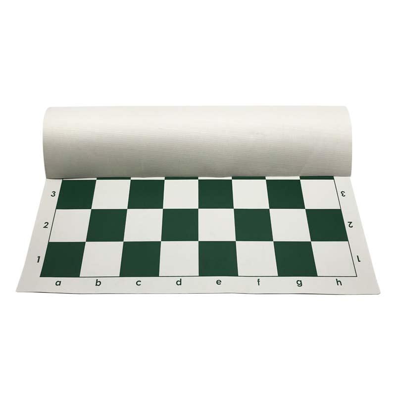 Tablero de ajedrez de cuero duradero PVC casillas blancas y verdes