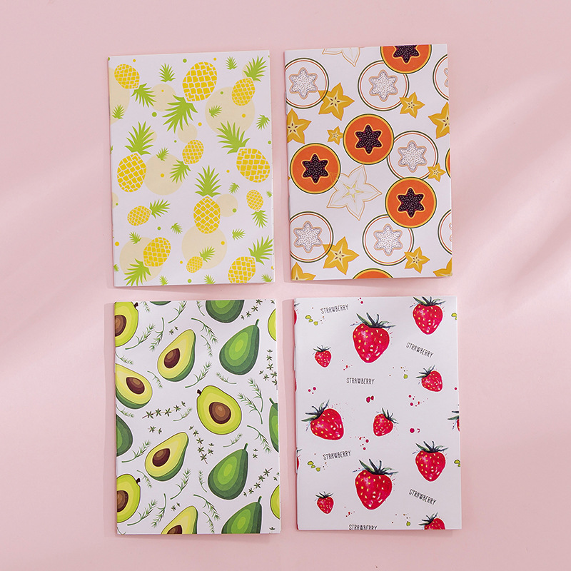 1 Pcs Kawaii Fruit Cactus Notebook Cute Flamingo Note Book Diary Planner Journal Stationery Office School Supplies