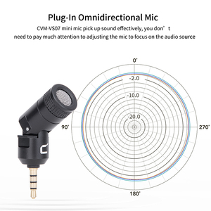 Image 2 - COMICA CVM VS07 Omnidirectional Mini Microphone for GoPro DSLR Camera Phone Stabilizer Mic for Video Recording(3.5mm TRRS)