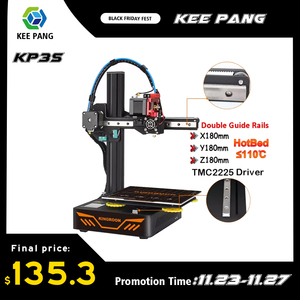 Upgraded 3D Printer KP3S Impressora 3d High Precision Touch Screen 3D Printer Resume Power Failure Printing With TMC2225 Driver