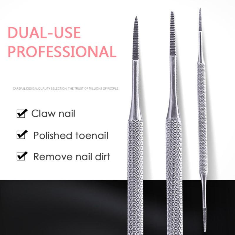 Foot Nail Care Hook Ingrown Double Ended Ingrown Toe Correction Lifter File Manicure Pedicure Toenails Clean Tools