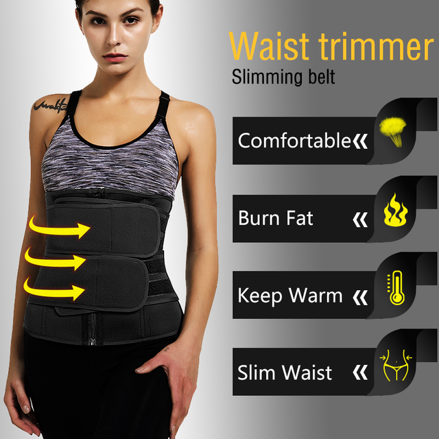 Waist Trainer Neoprene Belt Weight Loss Cincher Body Shaper Steel Bones Tummy Control Strap Slimming Sweat Fat Burning Girdle