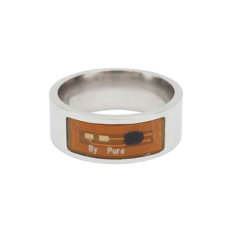 8mm NFC תג חכם קסם טבעת לביש חכם טבעות אצבע דיגיטלי טבעת עבור אנדרואיד טלפון עם פונקציות