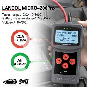 Image 2 - MICRO 200 PRO Car Battery Tester 12v 24v Multi Language Digital AGM EFB Gel Automotive Load Battery System Analyzer For Car Moto