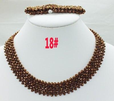 Новая цена-Африка, Нигерия, самый популярный ювелирный набор с кристаллами для невесты - Окраска металла: 18