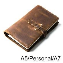 Carnet de notes en cuir véritable Vintage, carnet A5 personnel A7, Agenda, Agenda, Agenda, cadeau danniversaire, école