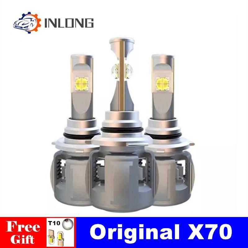 INLONG H7 H4 Car LED Headlight Bulbs H11 Led H1 9005 HB3 9006 HB4  D4S D2S D1S  D3S  X70 Chips 15600LM Headlamp Fog Lights 6000K