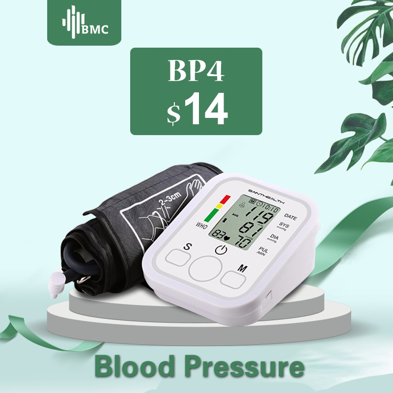 BMC Homeuse Health Care Digital Lcd Upper Arm Blood Pressure Monitor Heart Beat Automatic Meter Machine
