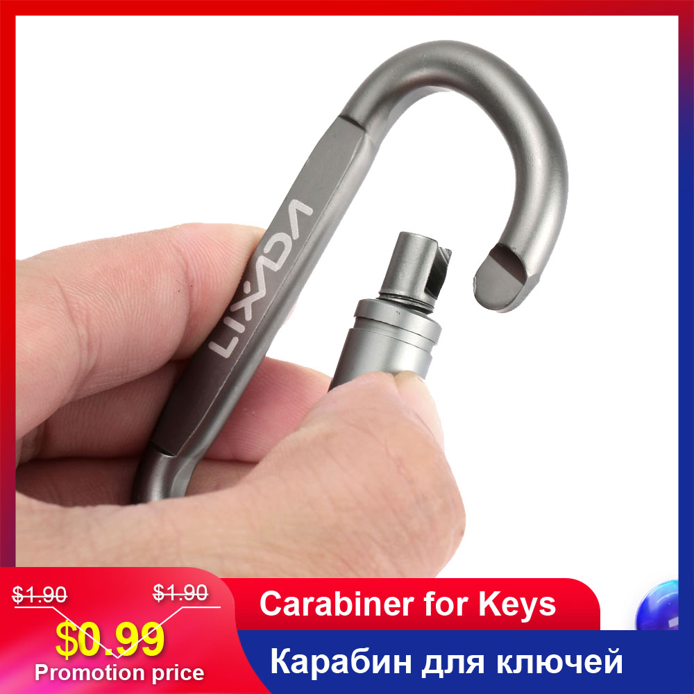 Lixada Aluminum Alloy Carabiner For Keys Climbing Carabiner Screw Hook Buckle Keychain Outdooor Survial Key Chain Mosqueton 1PC