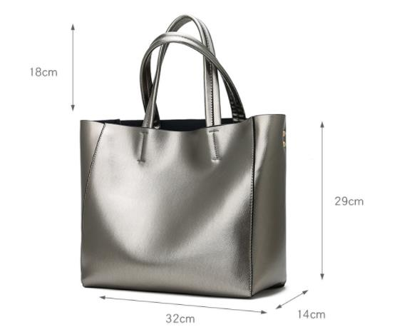 Women Bags Shoulder-Bags-Set Silver Gold Casual Tote Large-Capacity Feminina Bolsa Black