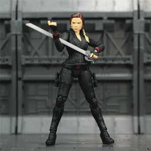 "Image 2 - Avenger 4 Endgame Black Widow 6"" Action Figure Infinity stones Soul Gem Scarlett Johansson Legends KOs SHF Doll Toys Model"