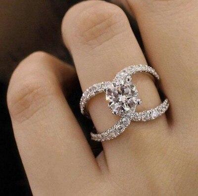 Горячая Распродажа, дизайн, роскошное большое овальное CZ кольцо золотого цвета, обручальное кольцо, хорошее ювелирное изделие для женщин, ювелирных изделий - Цвет основного камня: 23