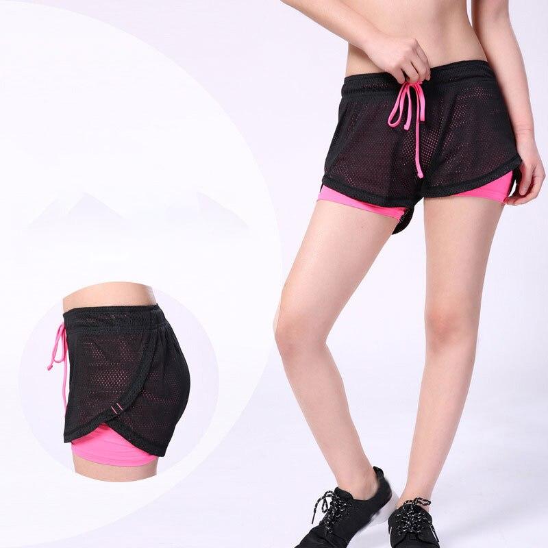 Yoga Shorts Women Fitness Elastic Running Workout Short Leggings Gym Sport Breathable Mesh Side Panels Shortss