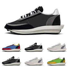 2019 Sacai LDV waffle running shoes for men women black white gray pine green Gu
