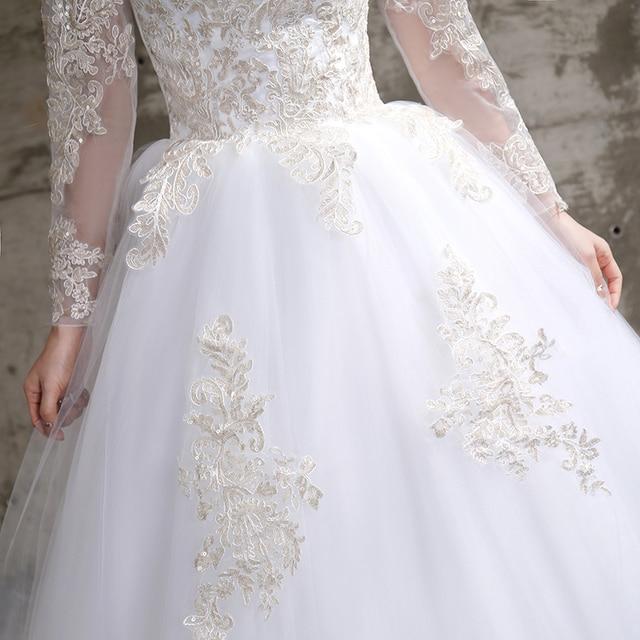 Applique Lace O-neck Wedding Dress 5