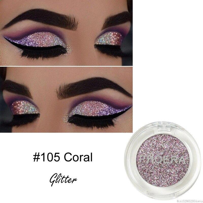 PHOERA 8 цветов блестящие тени для макияжа пигмент Шиммер косметический инструмент для макияжа для искусства фестиваль блестит тела TSLM1