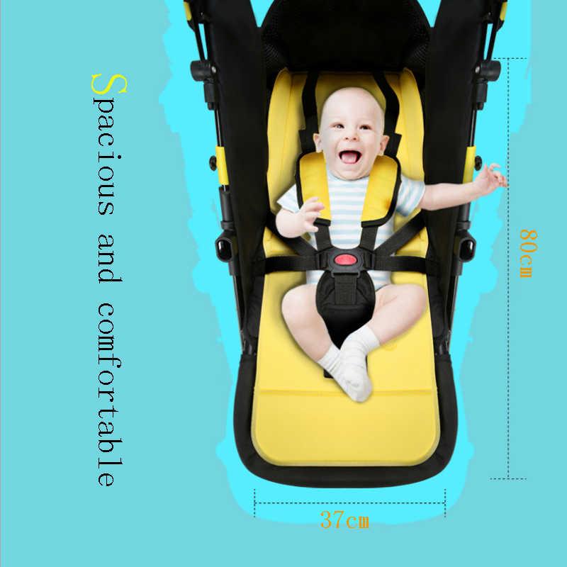 Carrinho de bebê alta paisagem do bebê pode sentar reclinável dobrável amortecedor quatro rodas mão empurrar carrinho 6kg leve